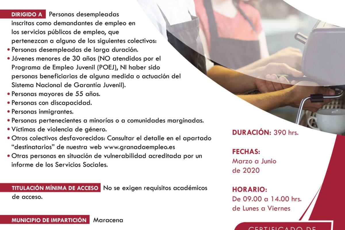 GRANADA EMPLEO – CURSO DE OPERACIONES BASICAS DE RESTAURANTE Y BAR