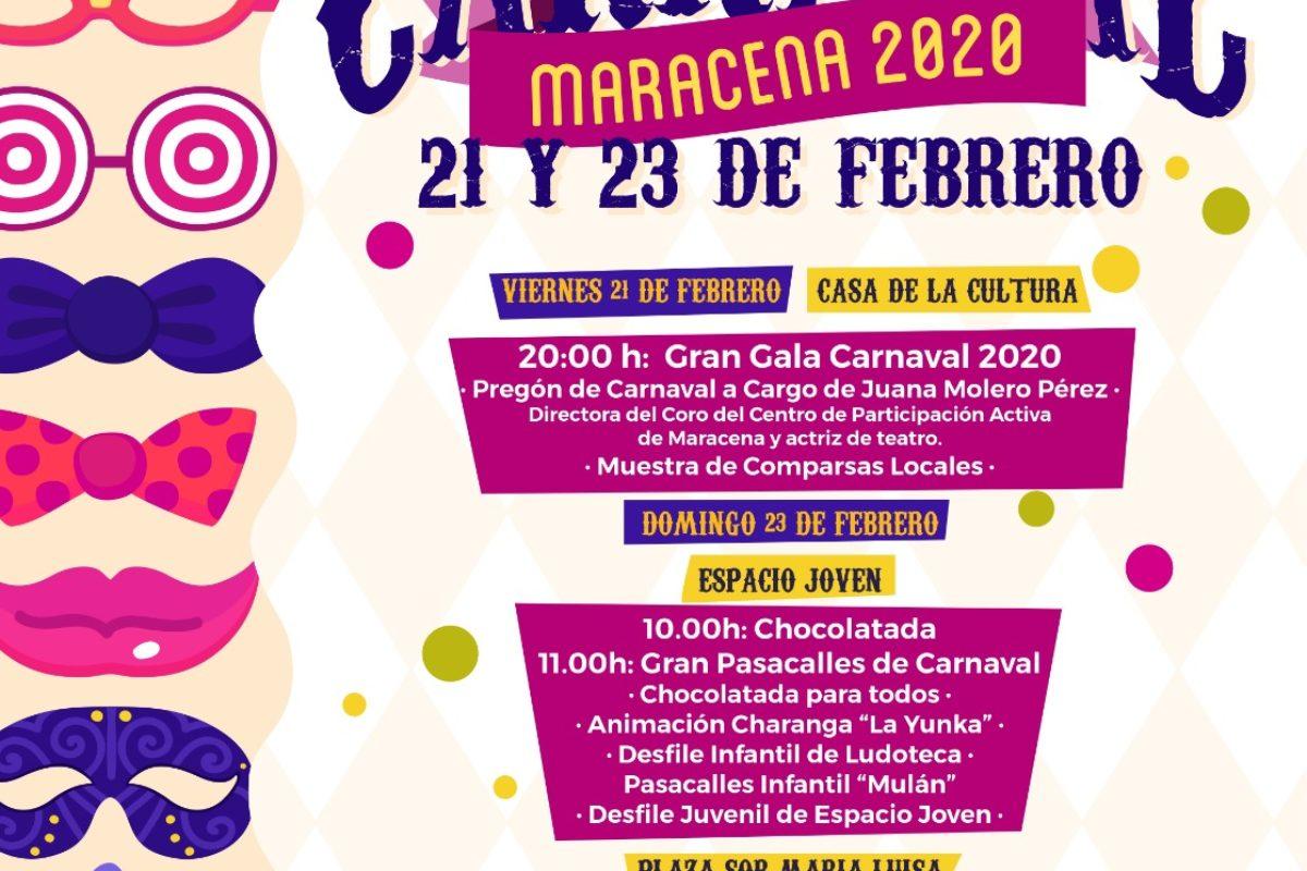PROGRAMACIÓN CARNAVAL 2020 MARACENA