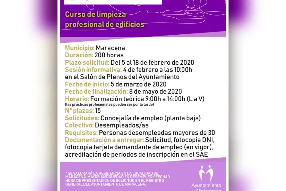 """CURSO FORMATIVO """"LIMPIEZA PROFESIONAL DE EDIFICIOS"""""""