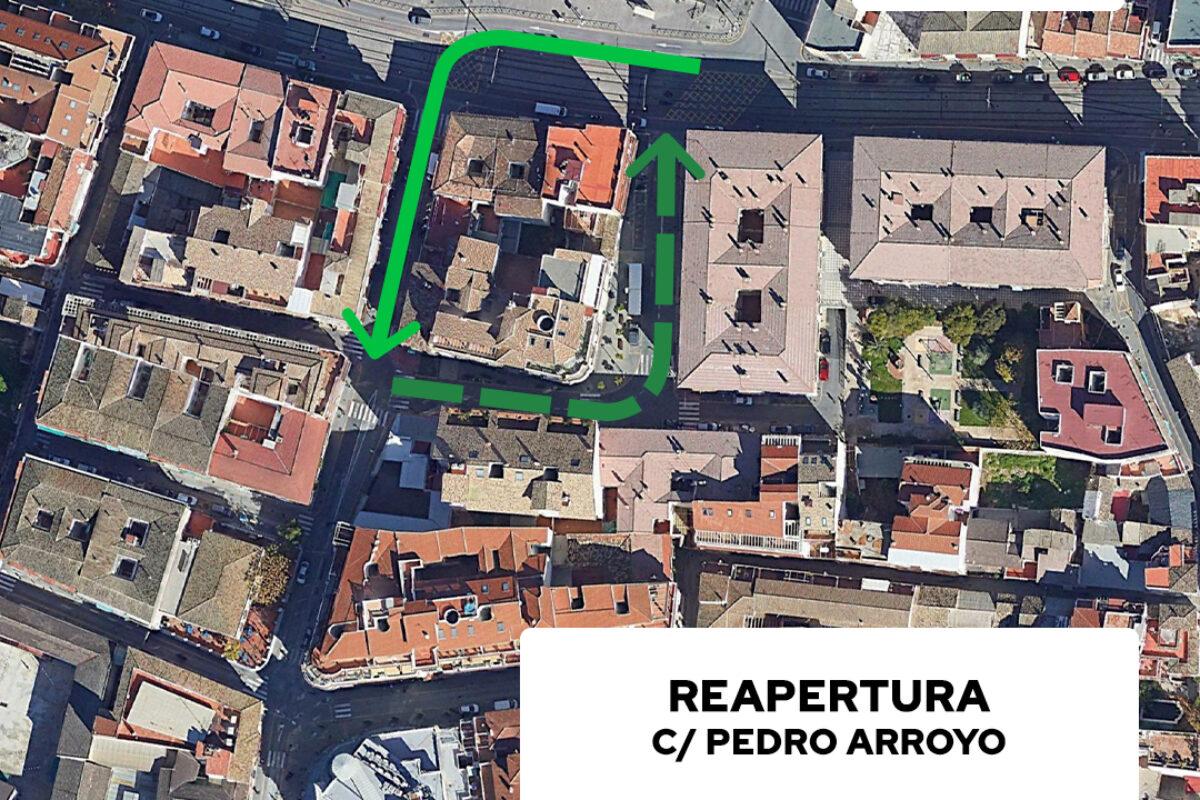 Reapertura al tráfico de la C/ Pedro Arroyo