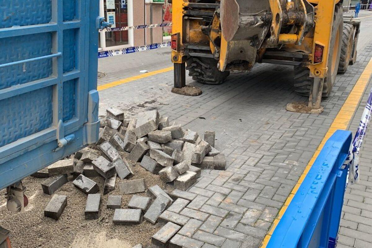 Afección al tráfico por obras en C/Olivares